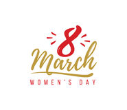 8 March. Womens day background. Stock Photos
