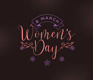 8 March. Womens day background. Royalty Free Stock Images