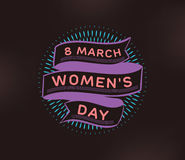 8 March. Womens day background. Stock Images
