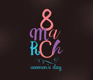 8 March. Womens day background. Stock Image