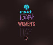 8 March. Womens day background. Royalty Free Stock Photos