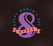 8 March. Womens day background. Royalty Free Stock Photography