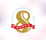8 March. Womens day background. Stock Photography