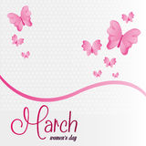 March womens day celebration. Vector illustration eps 10 Stock Images