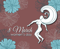 8 March Womens Day Postcard Stock Photography