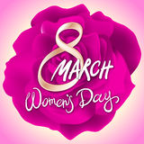 8 march womens day. red pink rose background. Art Royalty Free Stock Images