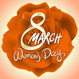 8 march womens day. rose background. Art Stock Photography
