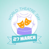 27 March  World Theatre Day Stock Photography