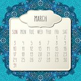 March year 2019 monthly calendar royalty free stock image