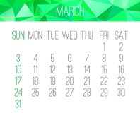 March year 2019 monthly calendar royalty free stock images