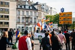100a marcha de la conmemoración del genocidio armenio en Francia Foto de archivo libre de regalías