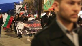 Marcha de la procesión de Lukovmarch almacen de metraje de vídeo