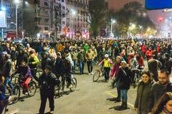 Marcha de la solidaridad Imagen de archivo libre de regalías