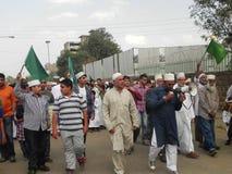 Marcha de los musulmanes en las calles de Nairobi Imagen de archivo libre de regalías