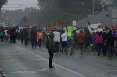 Marcha de paz para Michael Brown imagen de archivo libre de regalías