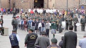 Marcha de Policia Escolar, Cusco απόθεμα βίντεο