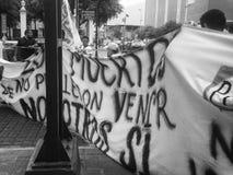 132 marcha de protesto Imagem de Stock