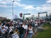 132 marcha de protesto Fotografia de Stock Royalty Free