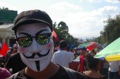 Marcha de protesto agaist Juan orlando Hernández 12 de janeiro de 2018 número 5 imagens de stock
