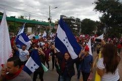 Marcha de protesto contra a reeleição 2017 11 fotografia de stock royalty free