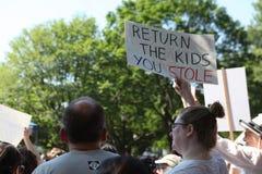 Marcha de protesto na C.C. foto de stock