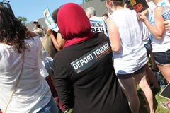 Marcha de protesto na C.C. imagem de stock