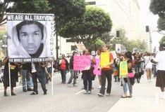 Marcha de Trayvon Martin Imagenes de archivo