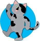 Marcha do gato ilustração do vetor