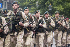 Marcha dos soldados Imagens de Stock