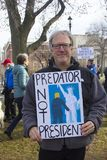 Marcha para mujer Hartford Connecticut imagen de archivo libre de regalías