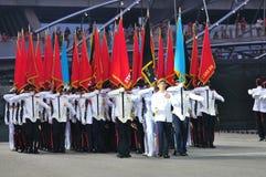 Marcha principal del comandante del desfile de NDP 2011 más allá Imagenes de archivo