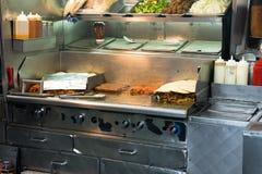 Marchand ambulant d'aliments de préparation rapide Stand Images stock