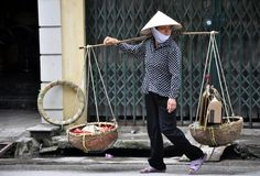 Marchand ambulant de Hano Photo stock