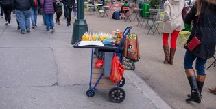 Marchand ambulant de New York images stock
