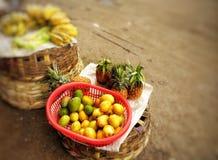 Marchand ambulant des fruits, Grenade, Nicaragua images libres de droits