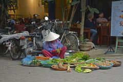 Marchand ambulant en Hoi An Image stock