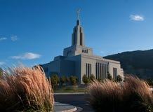 Marchand de nouveautés, temple mormon de l'Utah image libre de droits