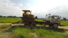 Marchand de remorque de tracteur Photo stock