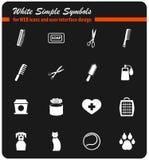 Marchandises pour l'ensemble d'icône d'animaux familiers Photos stock