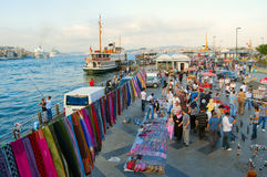 Marchands ambulants à Istanbul photos libres de droits