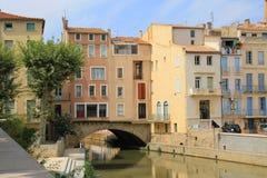 Marchands de DES de Pont à Narbonne, France Images libres de droits