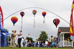 Marchant le festival chaud de ballon à air de Quechee Images libres de droits