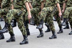 Marchas servias del ejército fotografía de archivo