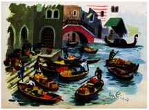 marché à Venise Stock Photo