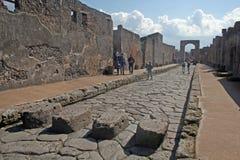 Marche à Pompeii image stock