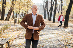 Marche élégante de vieux hommes Image stock