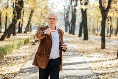 Marche élégante de vieux hommes Photographie stock libre de droits