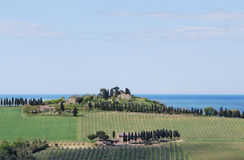 Marche. A typical Italian country farm in Marche (Italy Stock Photography