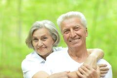 Marche aînée de couples Photos stock