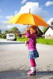 Marche après pluie Images stock